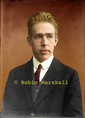 Young Niels Bohr Colour Image