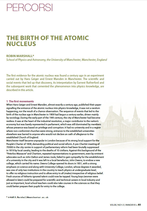 The Birth of the Atomic Nucleus